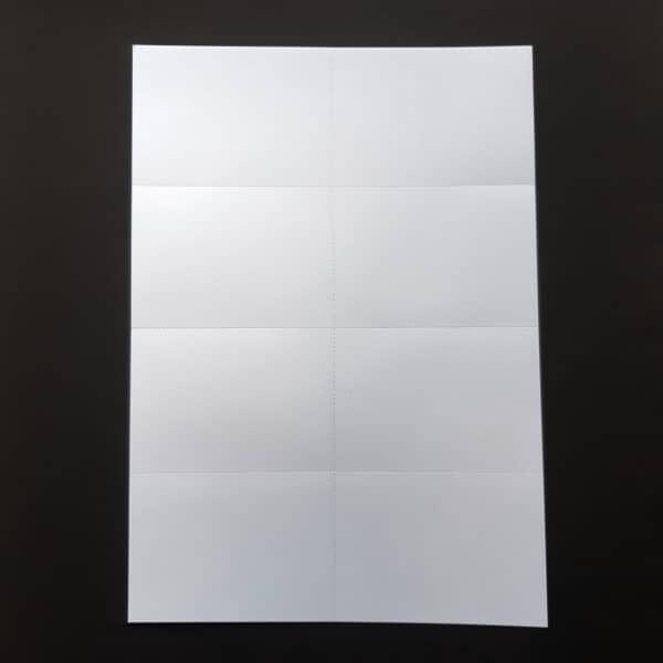 Flashcards printen A4 naar A7 vel