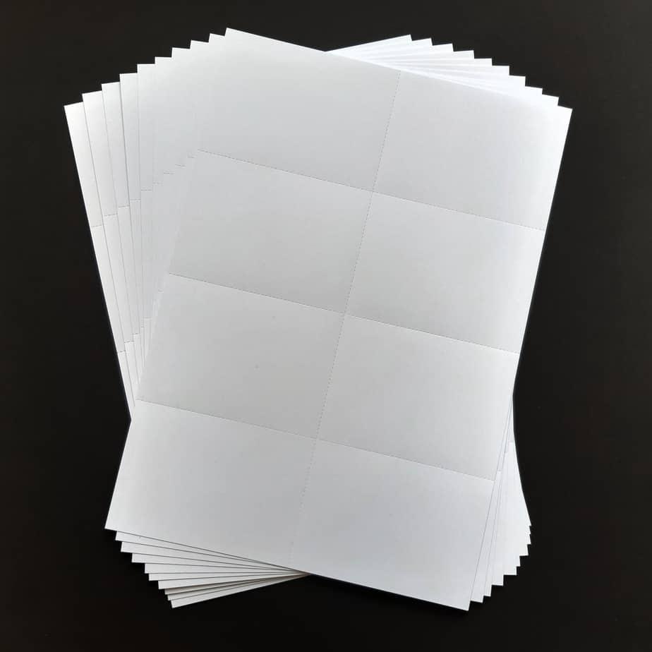 Flashcards printen A4 naar A7 vellen 10 keer