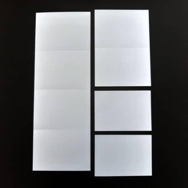 Flashcards printen en scheuren A4 naar A7 voorbeeld