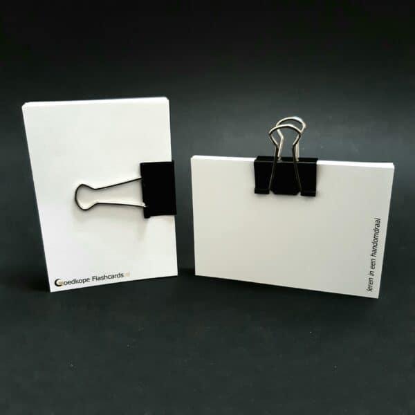 foldback papierklem normaal op flashcards zwart
