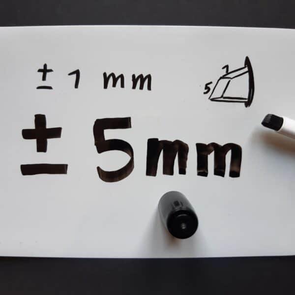 schrijfdikte 1mm of 5mm
