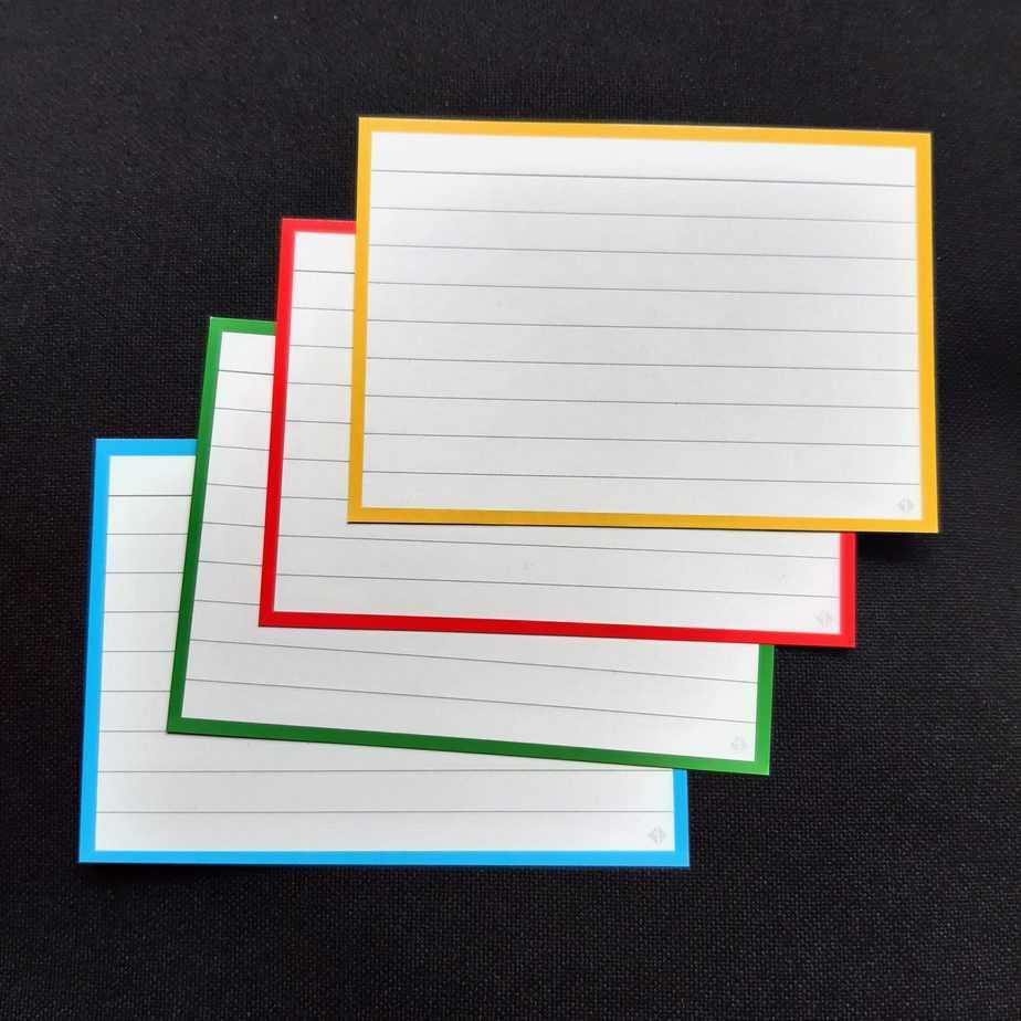 Bambook uitwisbare flashcards 4 kleuren lijntjes