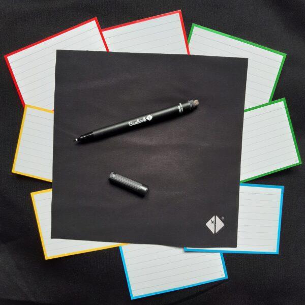 Bambook uitwisbare flashcards, wisdoekje en uitwisbare marker
