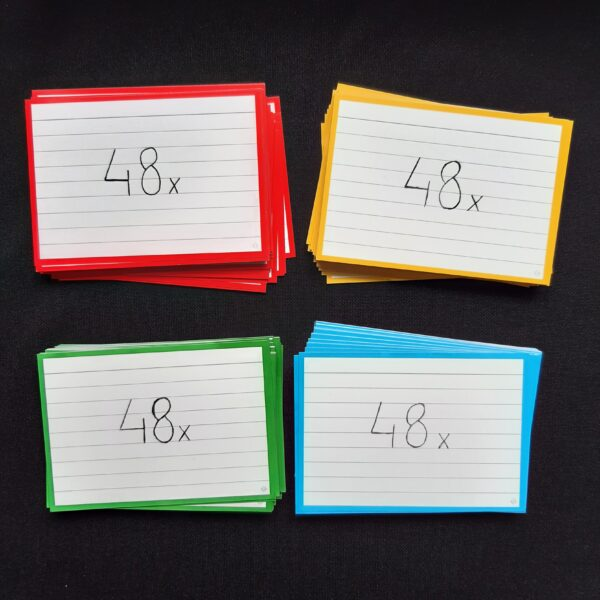 Bambook uitwisbare flashcards 4 kleuren 48x